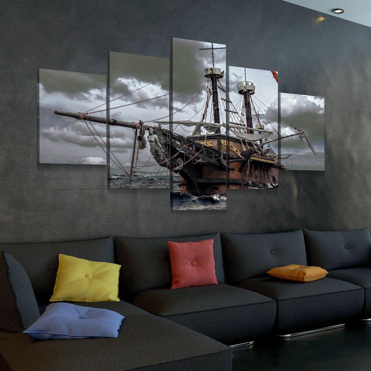 Ghost Ship 5 panel canvas wall art