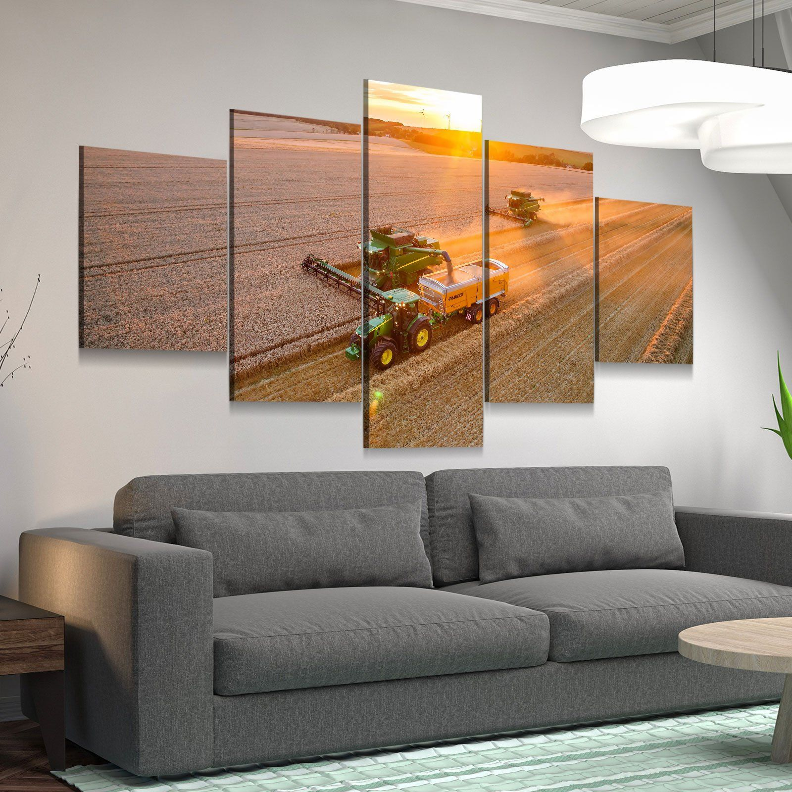 Harvest Time 5 panel canvas wall art