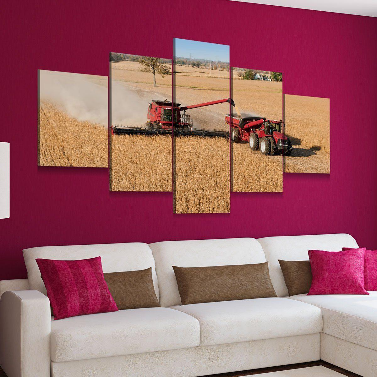 Harvest Time V2 5 panel canvas wall art
