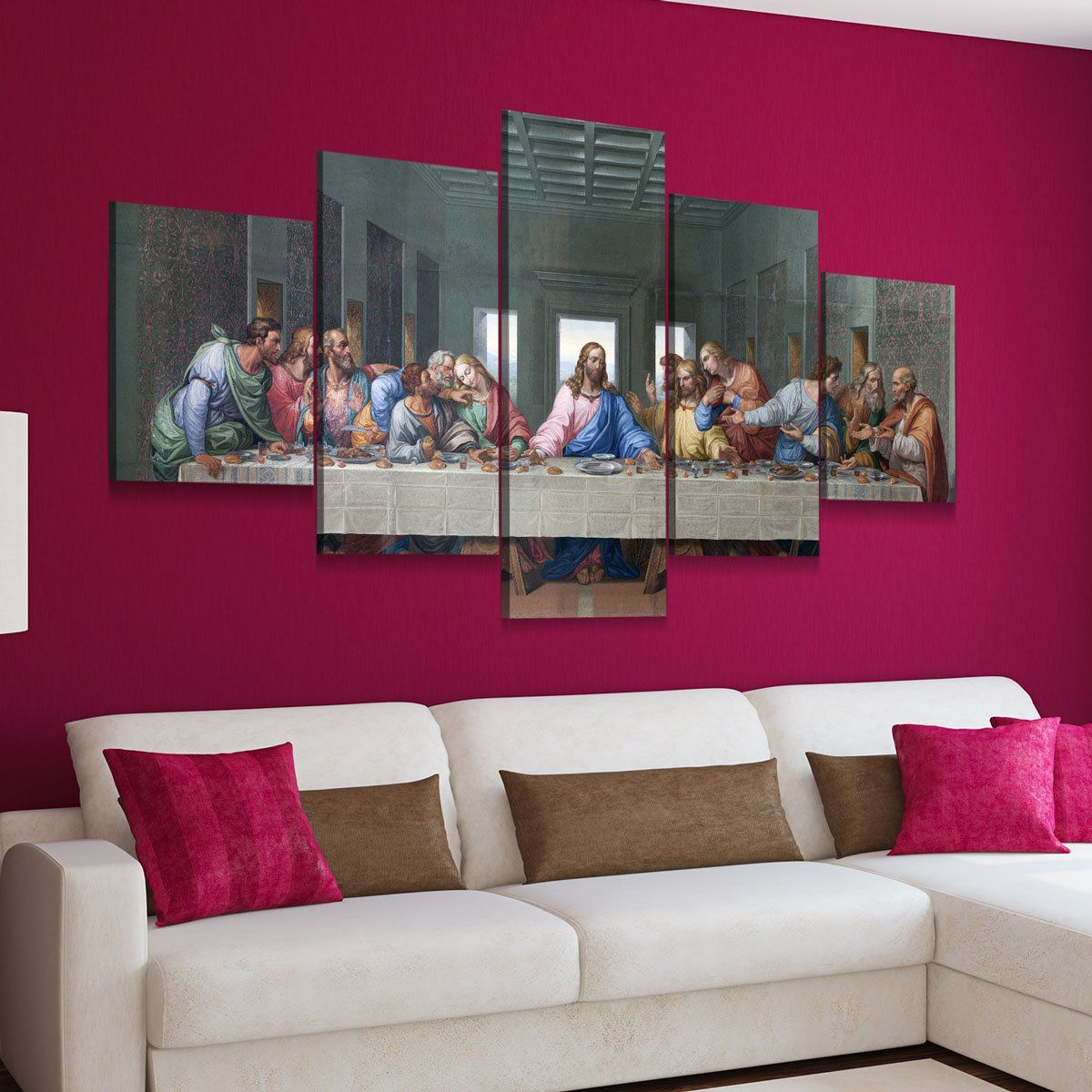 The Last Supper 5 panel canvas wall art