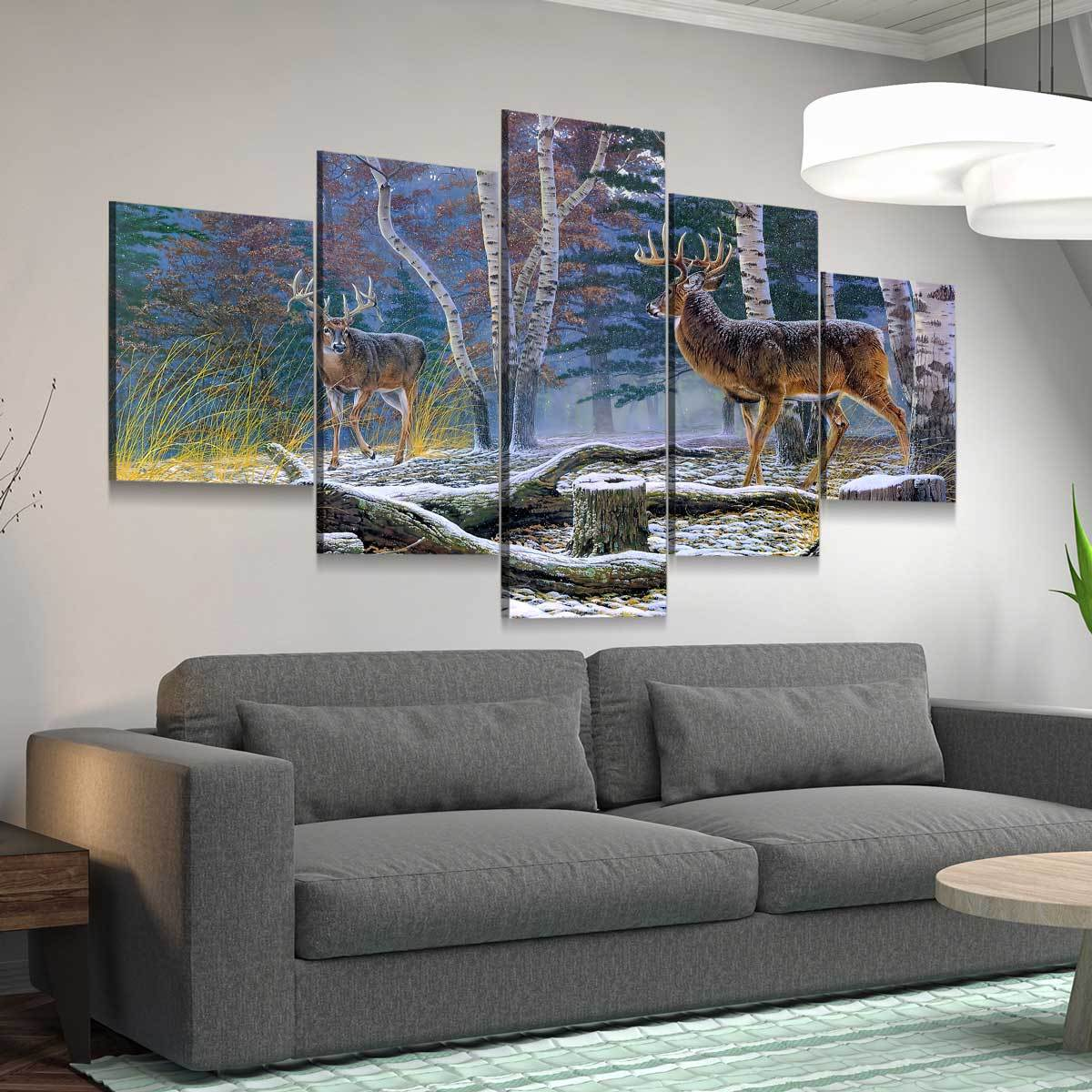 Who's King Buck 5 panel canvas wall art