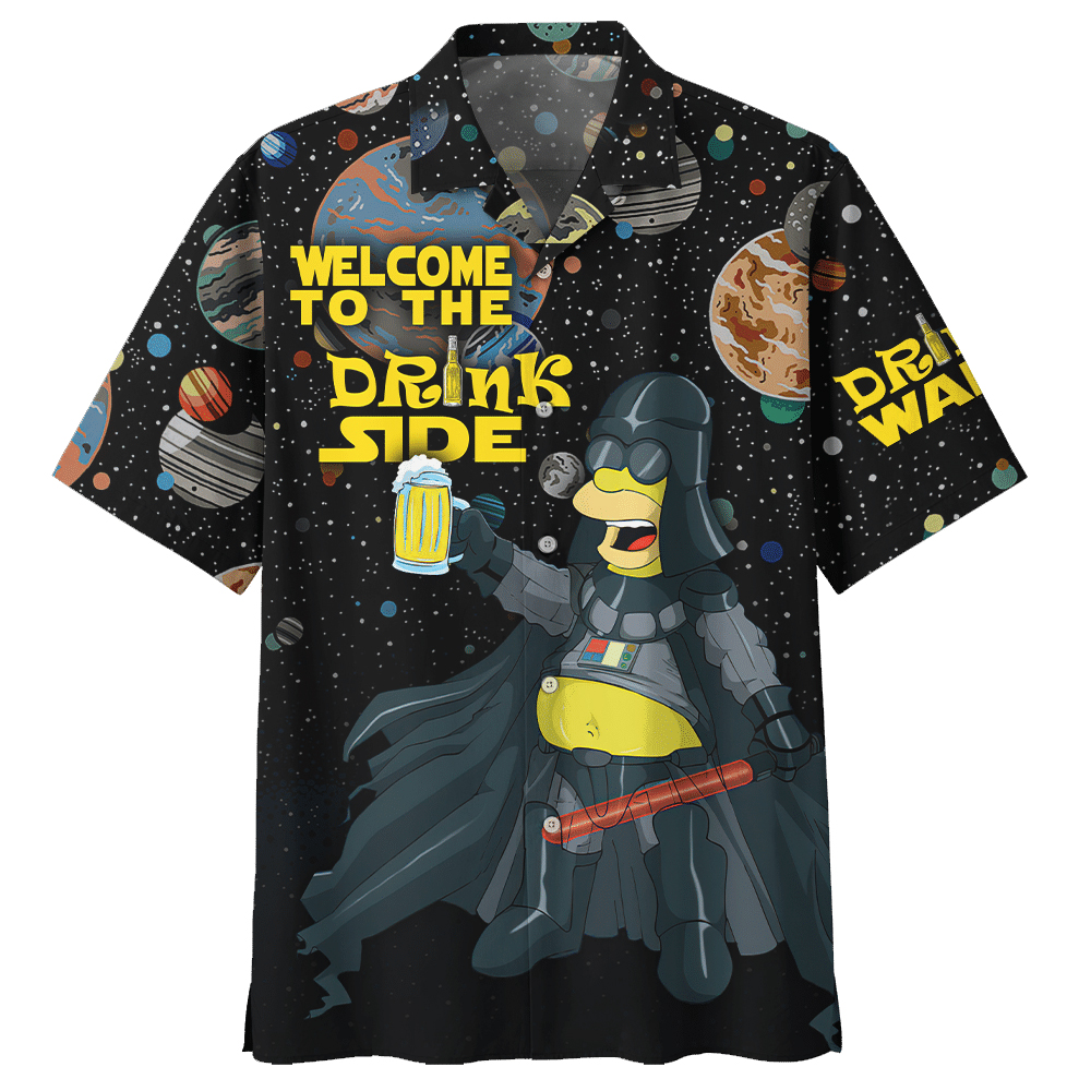 SW Hommer Welcome to Drink Side Beer Hawaiian Shirt