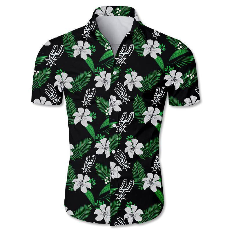 NBA San Antonio Spurs Hawaiian Shirt Small Flowers