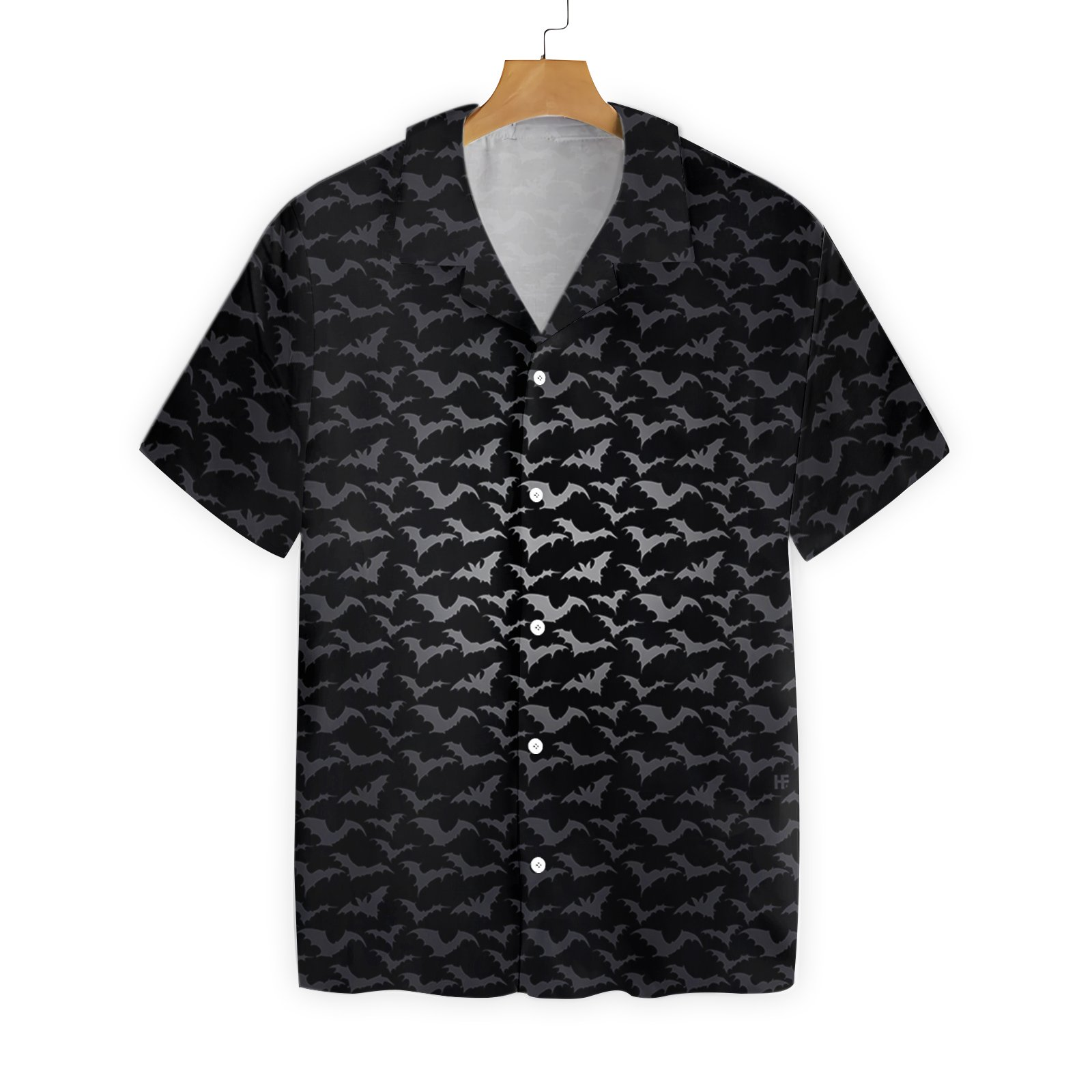 Seamless Bat Goth Hawaiian Shirt