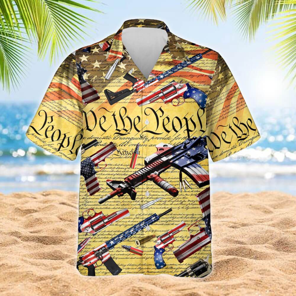 Second Amendment We The People Hawaiian Shirt 2