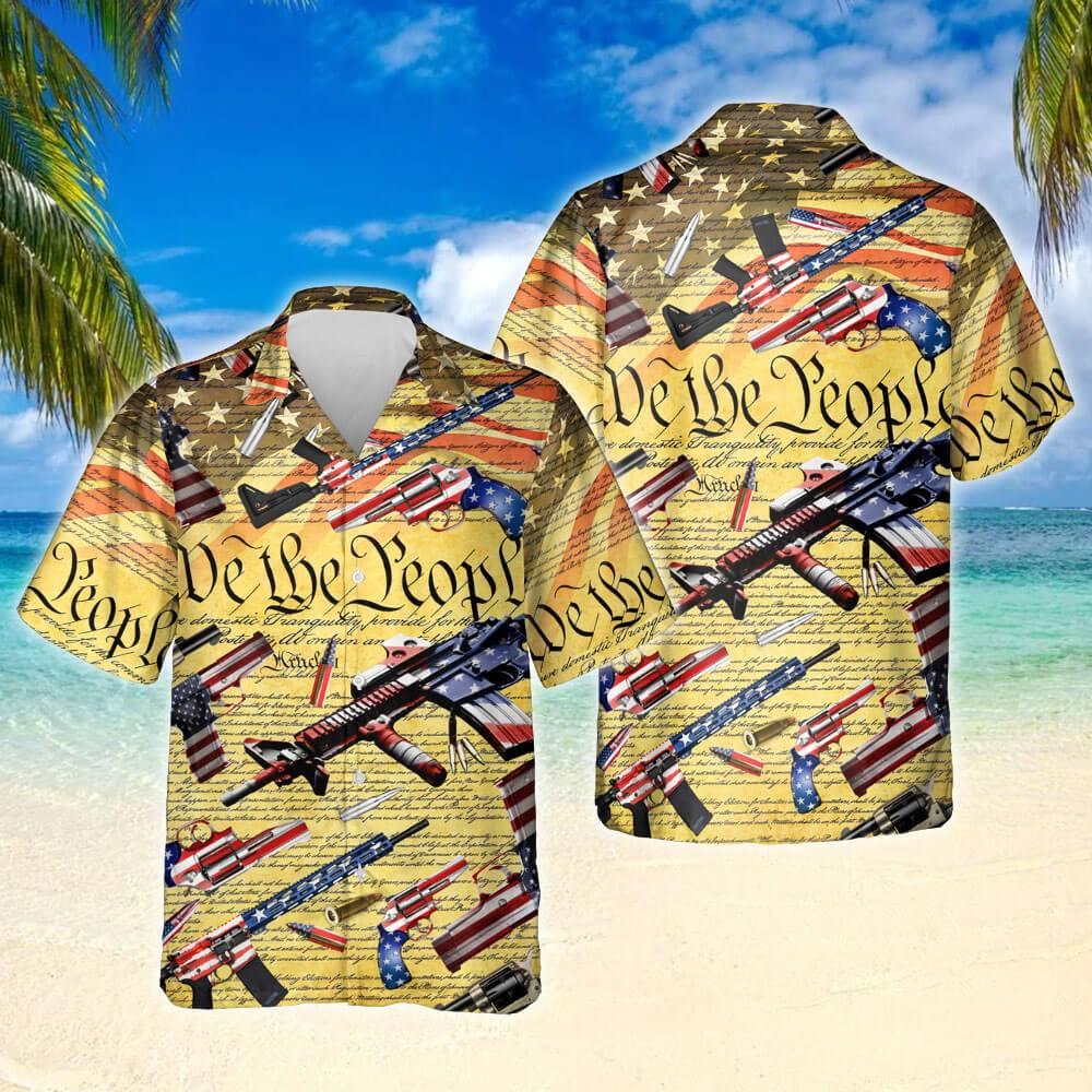 Second Amendment We The People Hawaiian Shirt