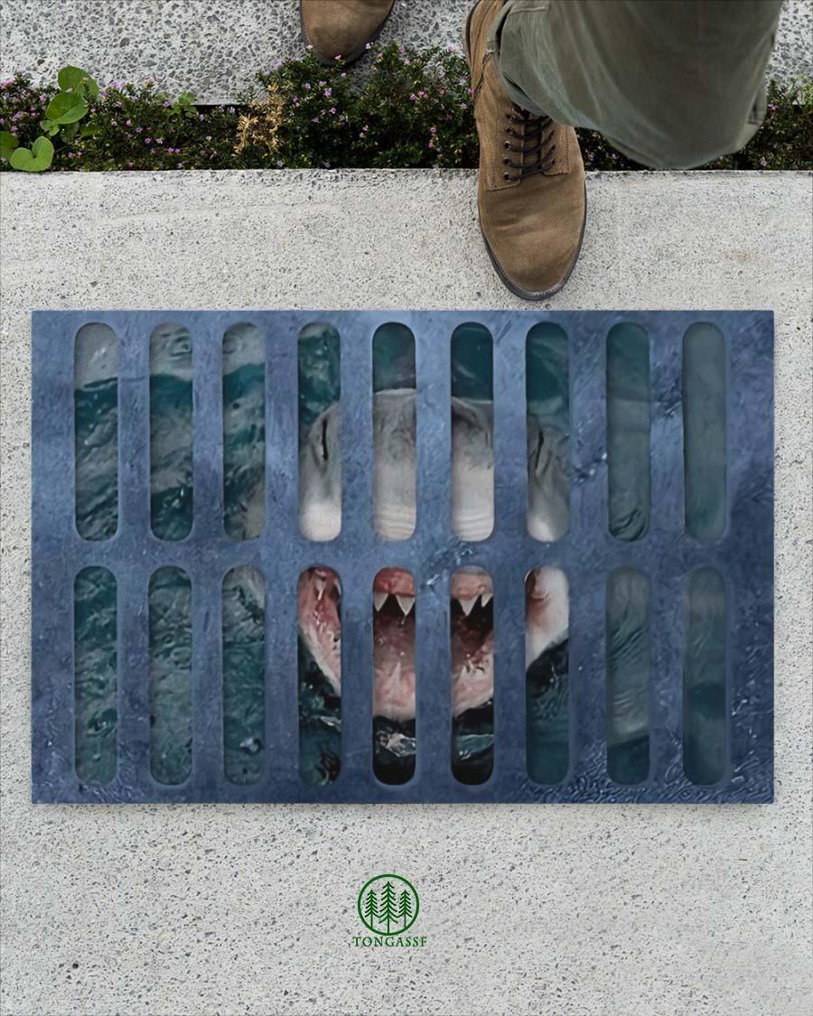 Shark Under Your Feet Doormat