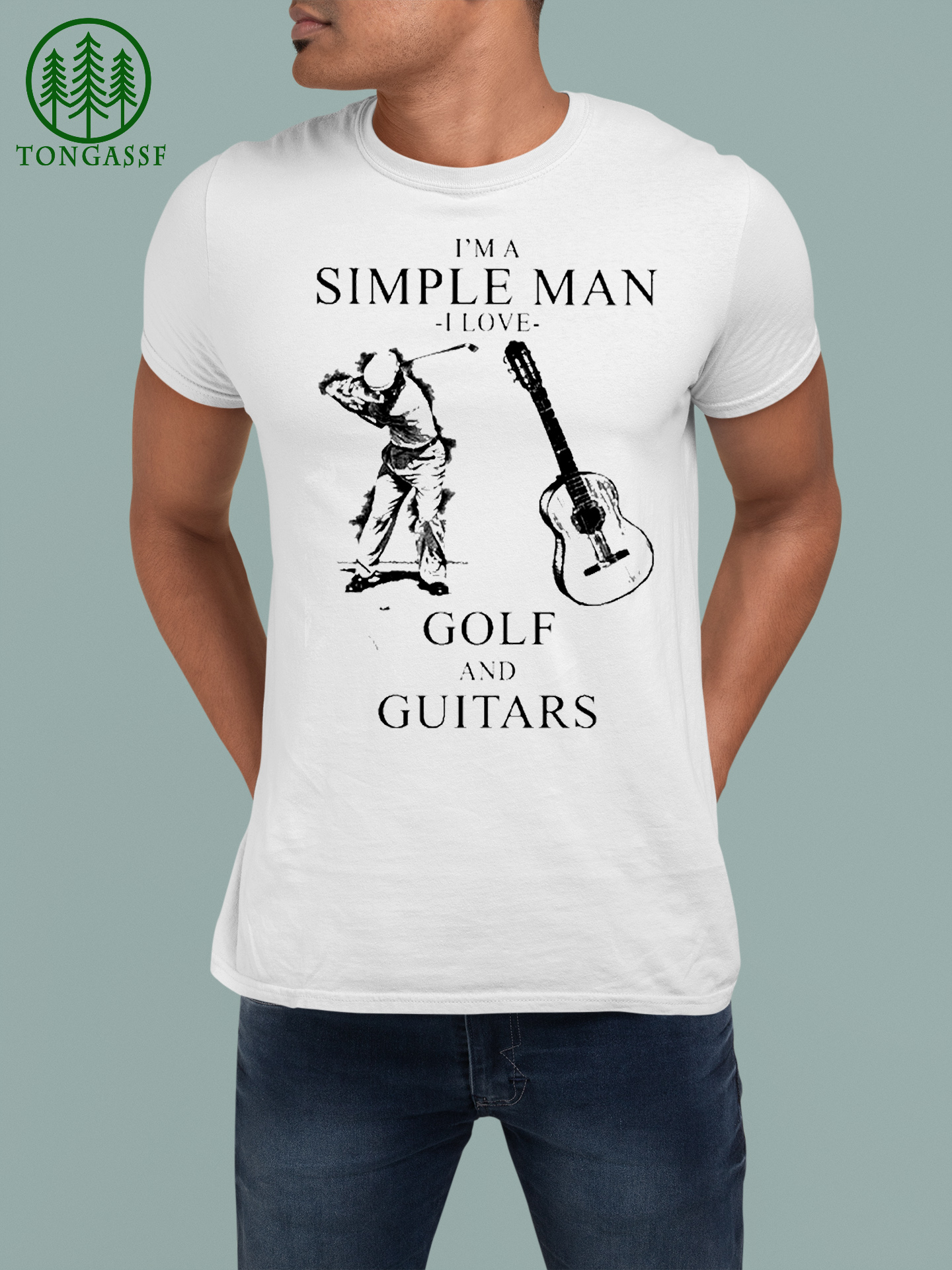 Simple man Love Golf and Guitars