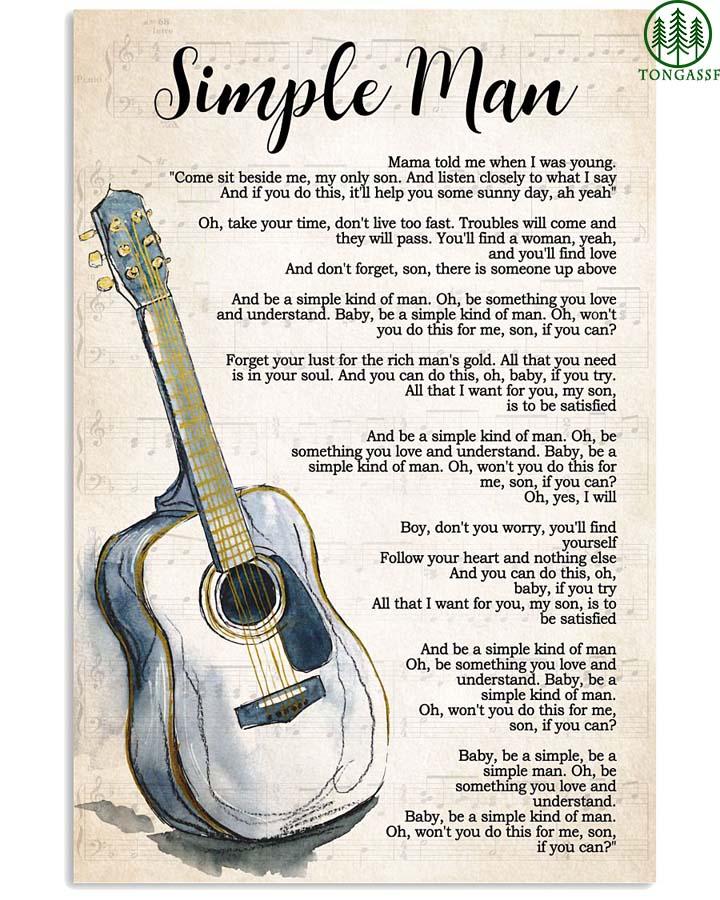Simple man classic guitar poster