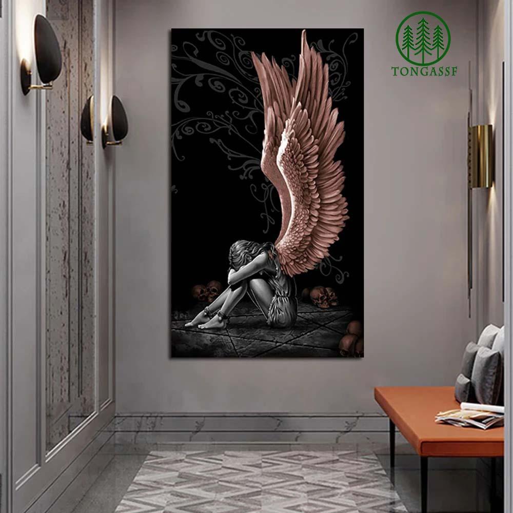 Sitting Angel Canvas