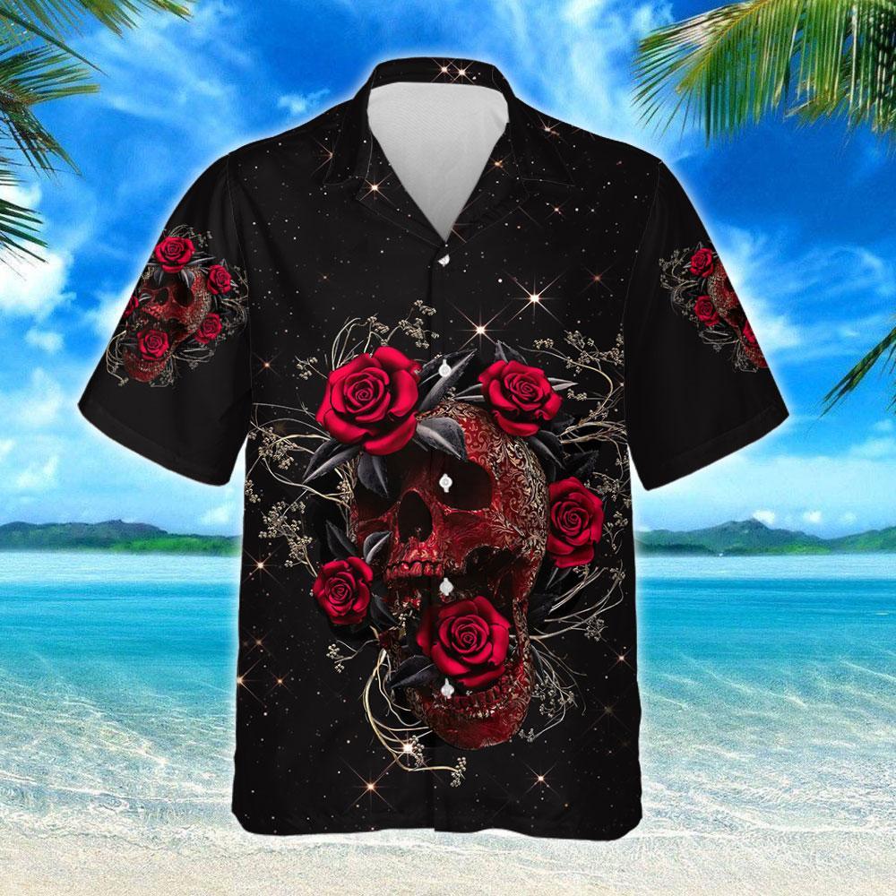 Skull Roses Hawaiian Shirt 2