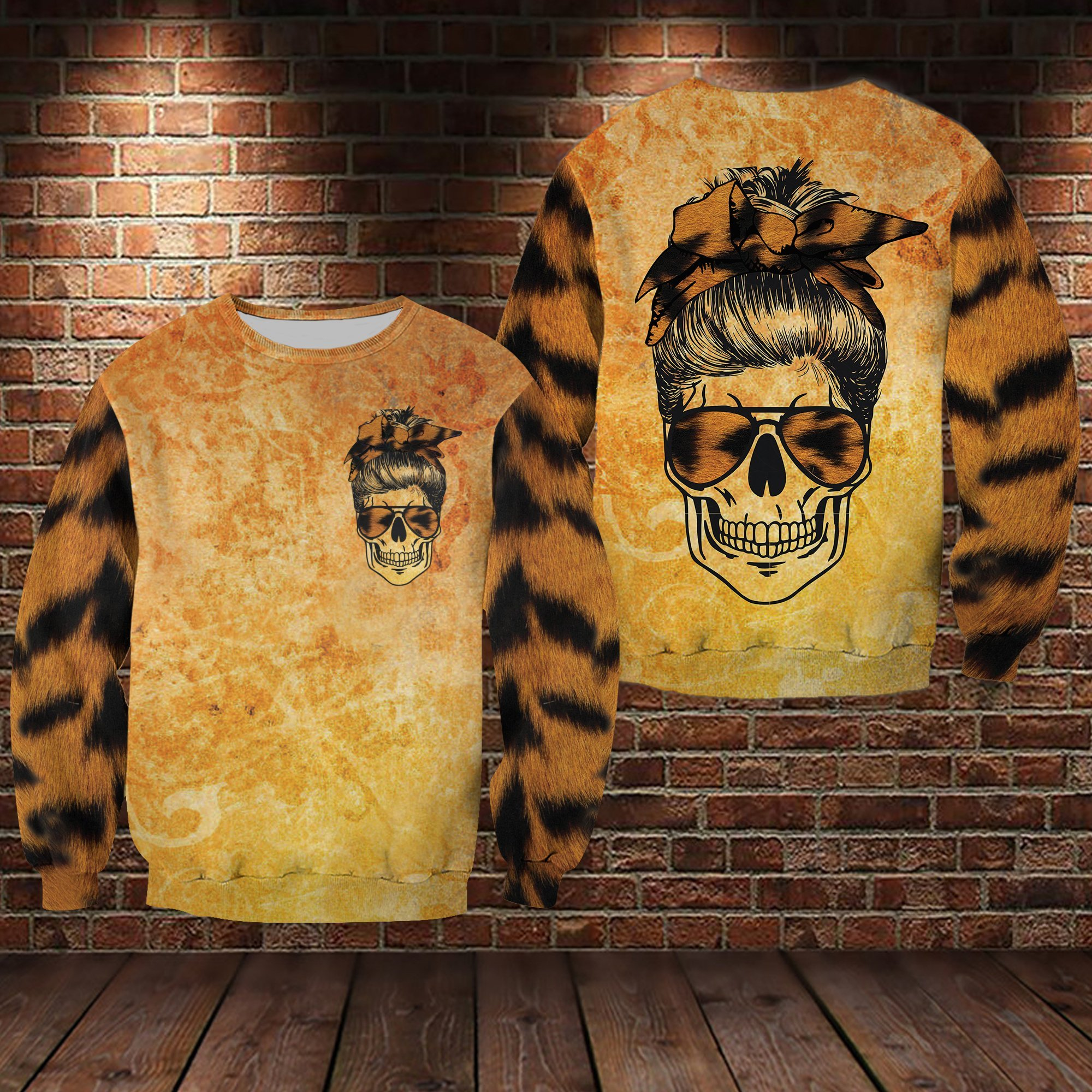 Skull Tiger Lover 3D hoodie
