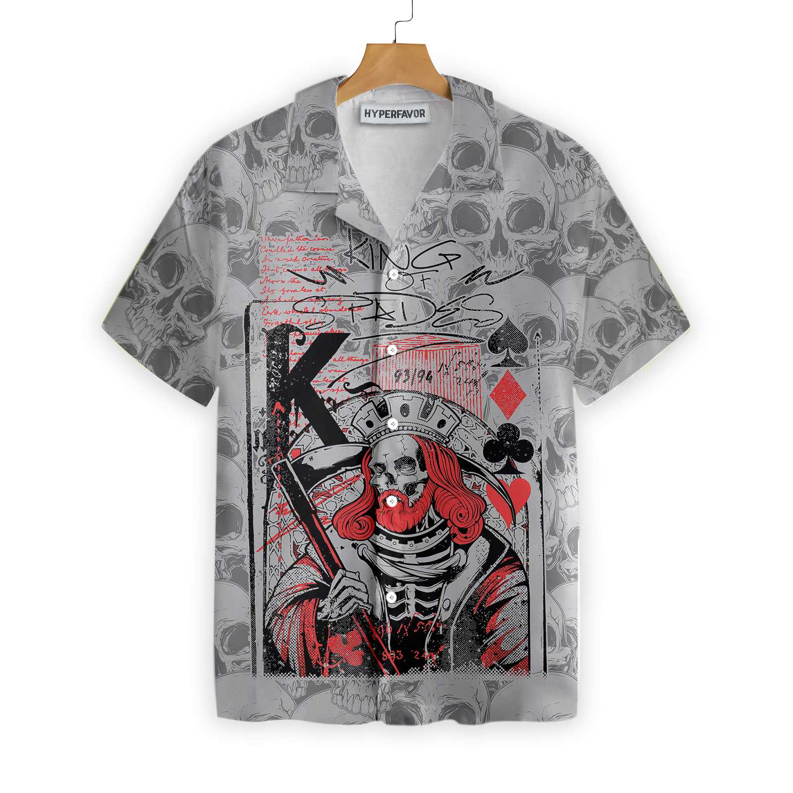 Skull King Spades Skull Hawaiian Shirt