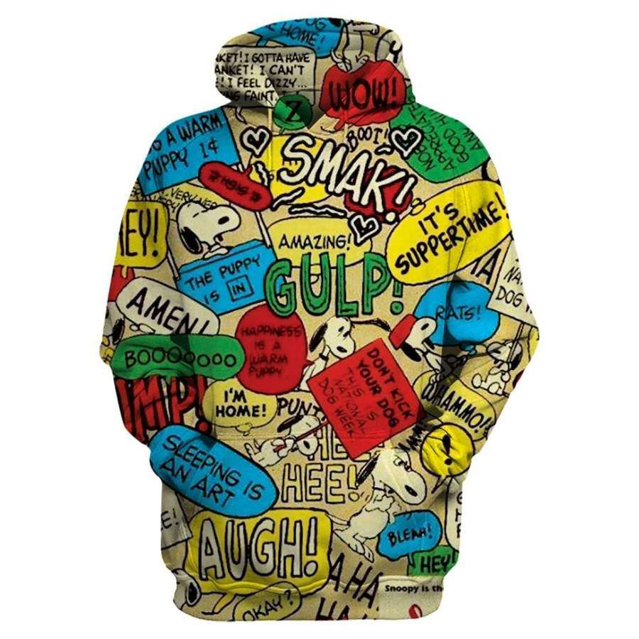Snoopy Hoodie 3D Style Shirt