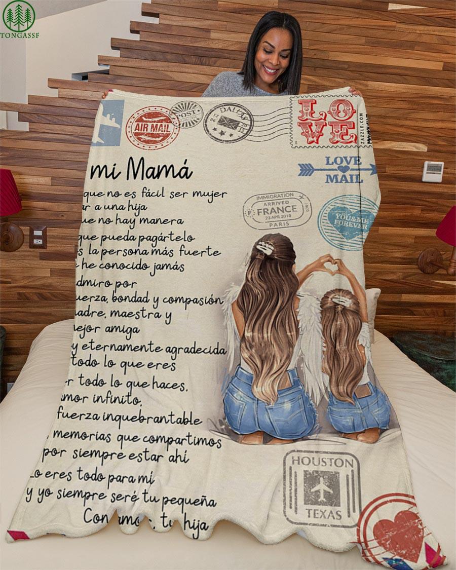 Sobre mama nina Regalo especial envelope mom girl Fleece Blanket