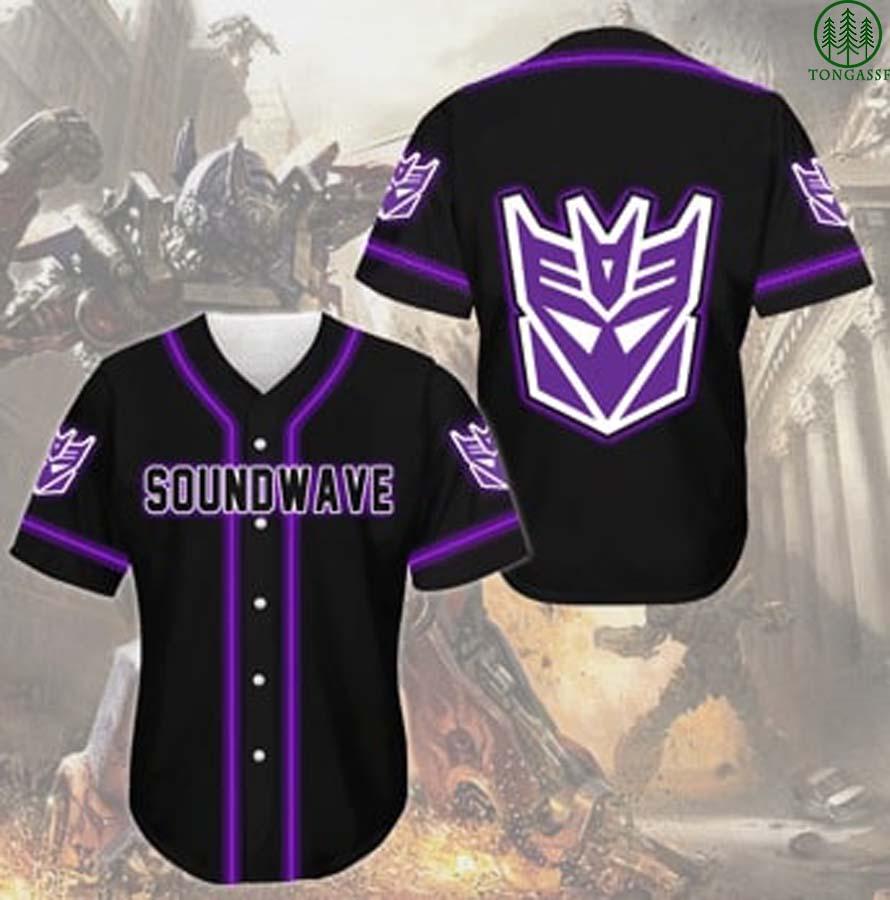 Soundwave Transformer baseball Jersey shirt