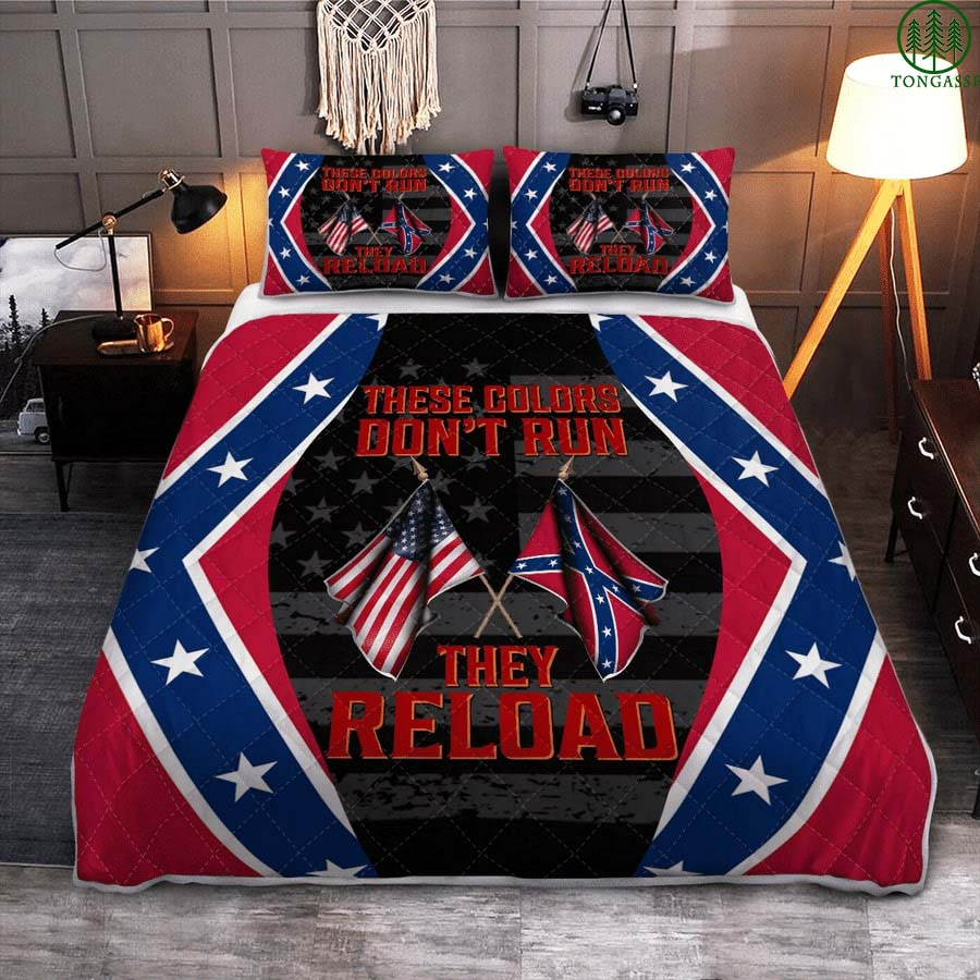 Southern American These colors dont run they reload quilt set