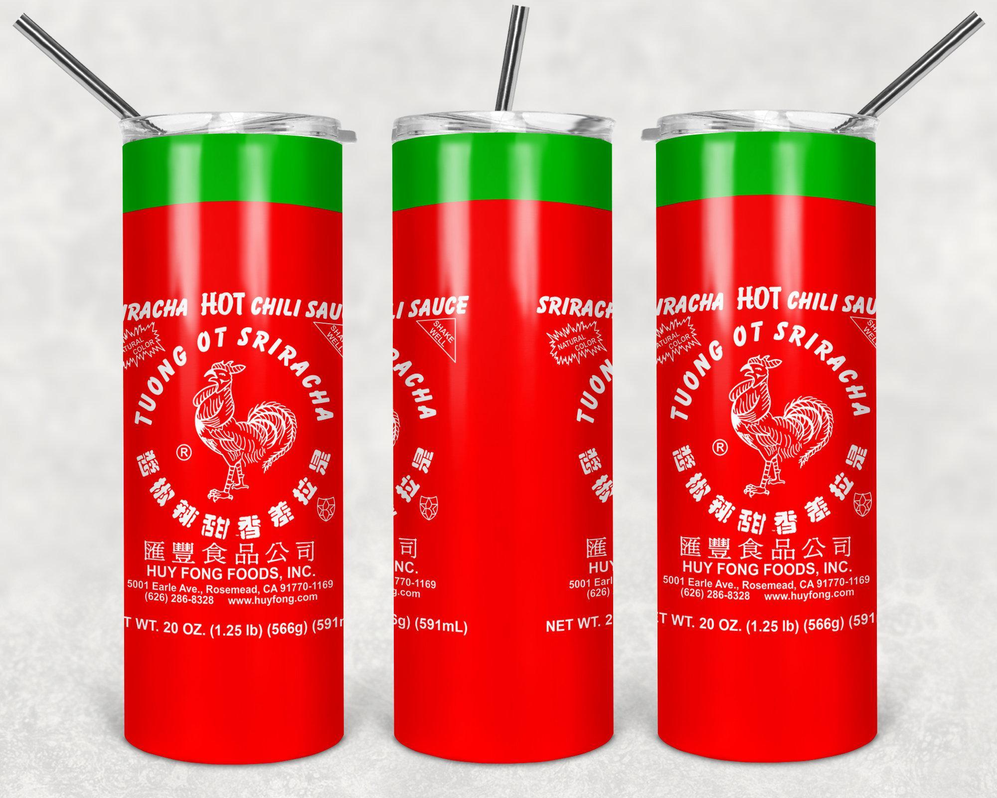 Sriracha Hot Sauce Skinny Tumbler