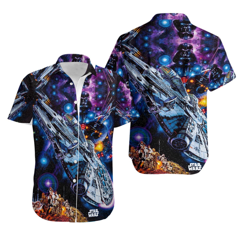 Star Wars Darth Vader Starships Universe Hawaiian Shirt