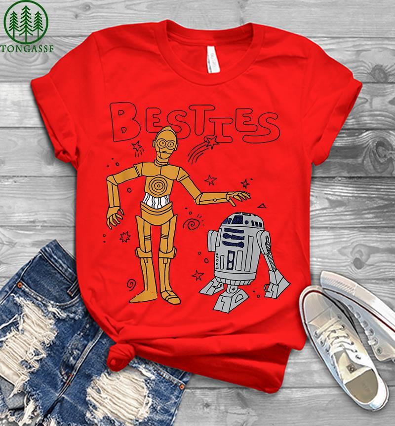 Star Wars R2 d2 And C 3po Besties Mens T shirt