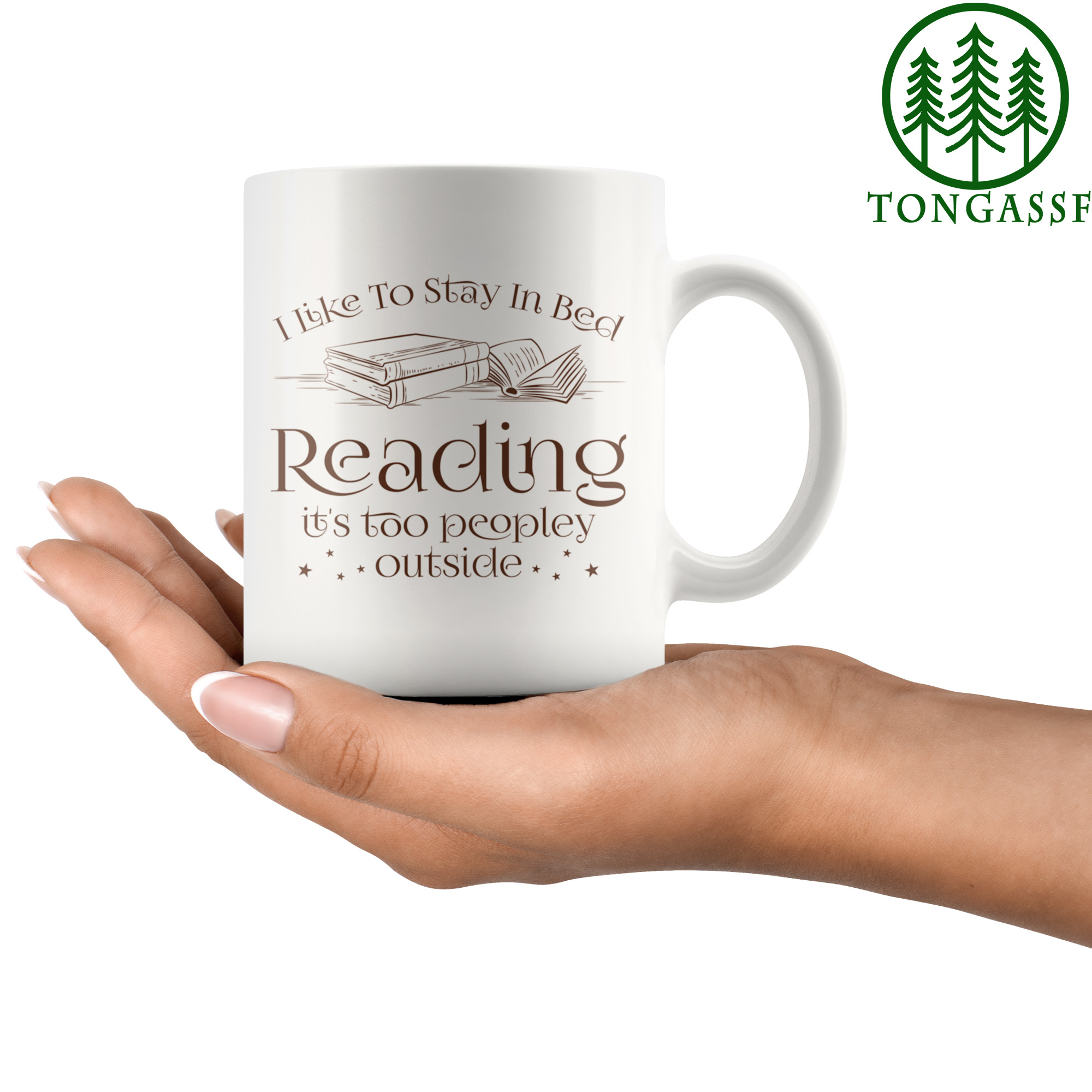 Stay In Bed Reading Book Lover Mug