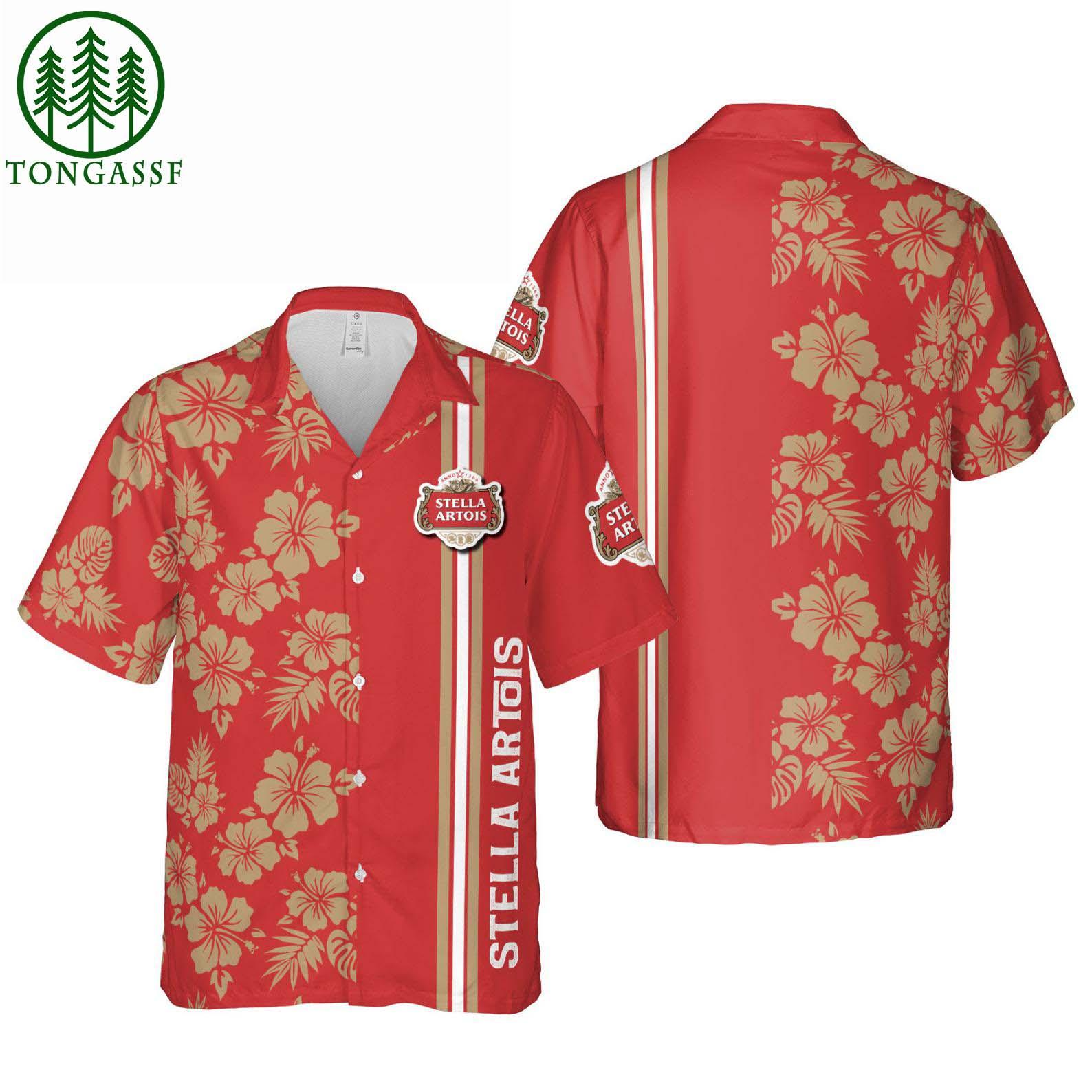 Stella Artois Hawaiian Shirt Summer Shirt