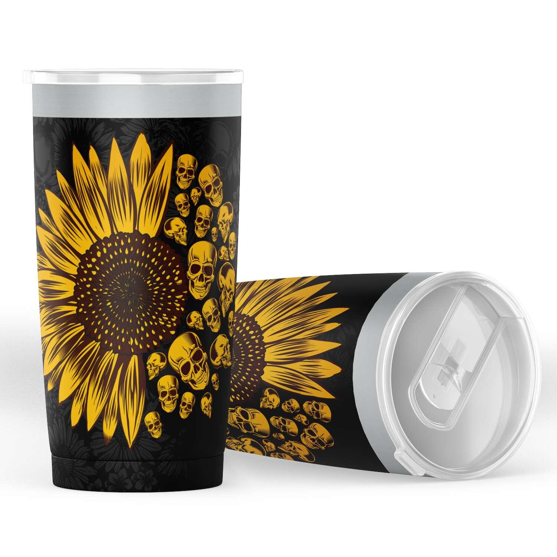 Sunflower Skulls Tumbler 2