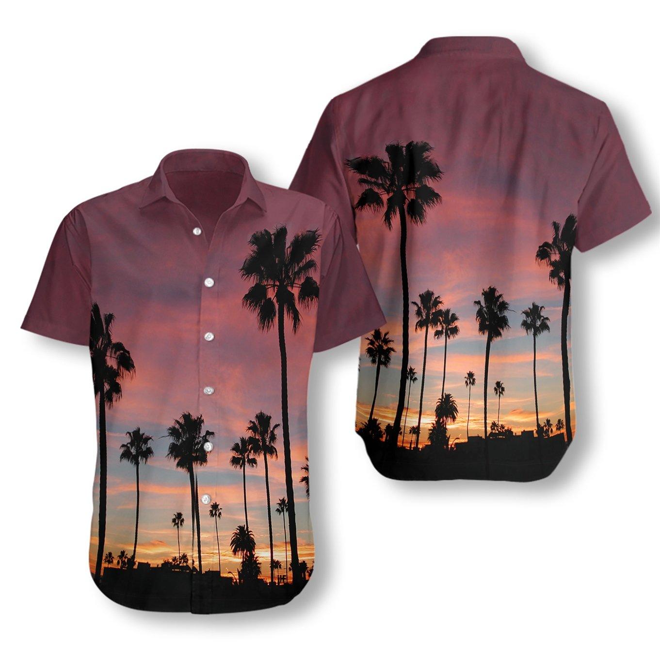 Sunset Venice Beach Hawaiian Shirt Summer Shirt