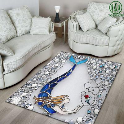 Swimming mermaid Carpet rug