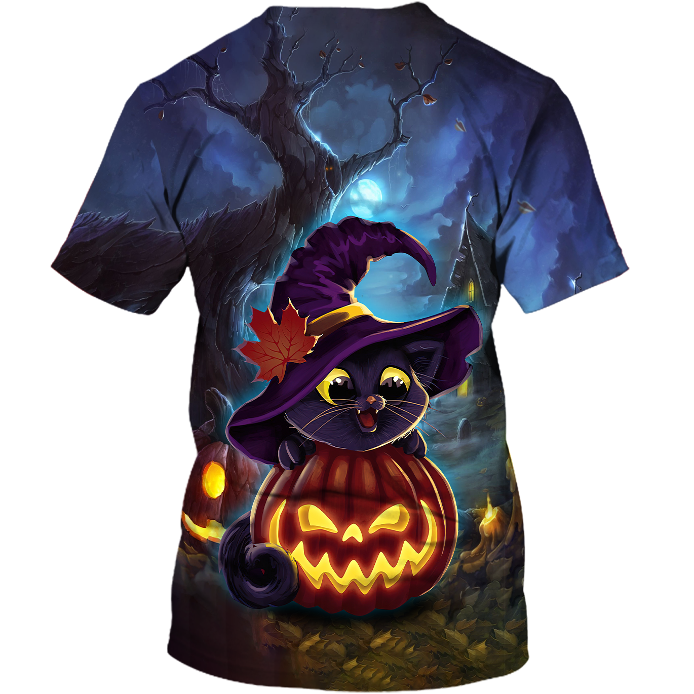 Lovely witch cats Halloween 3D T shirt