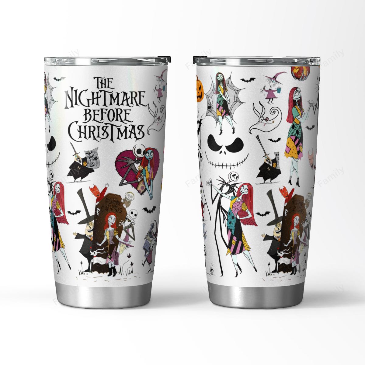 THE NIGHTMARE BEFORE CHRISTMAS HALLOWEEN TUMBLER