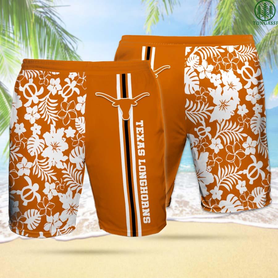 TL TEXAS LONGHORNS Hawaiian Shorts