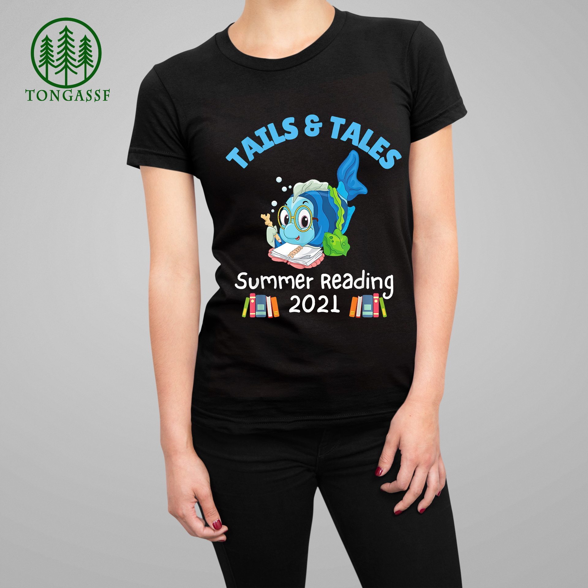 Tails And Tales Summer Reading 2021 Fish Book Lovers T Shirt