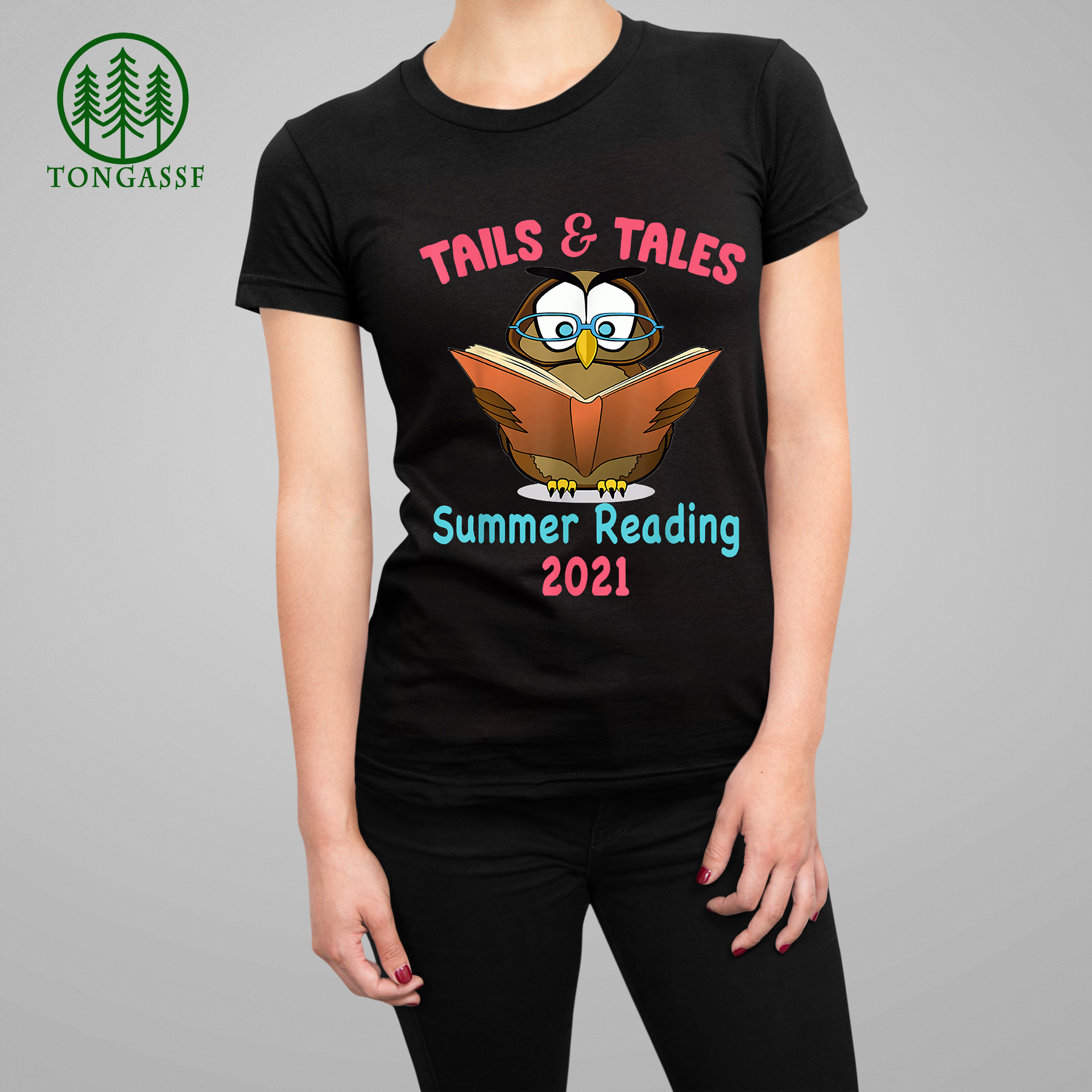 Tails And Tales Summer Reading 2021 Owl Book Lover Relaxed Shirt