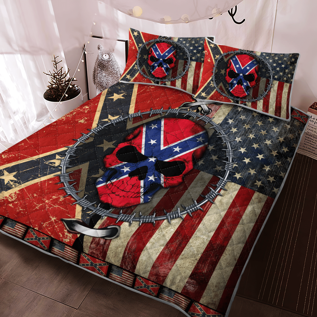 The Southern American Skull Bedding Set 2