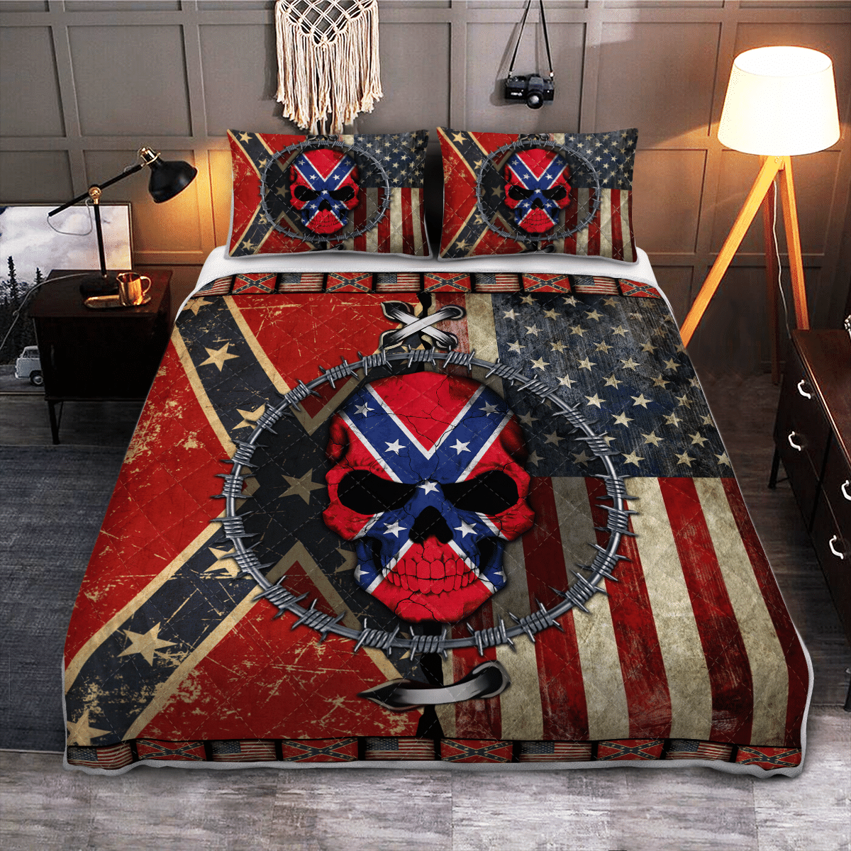 The Southern American Skull Bedding Set 3