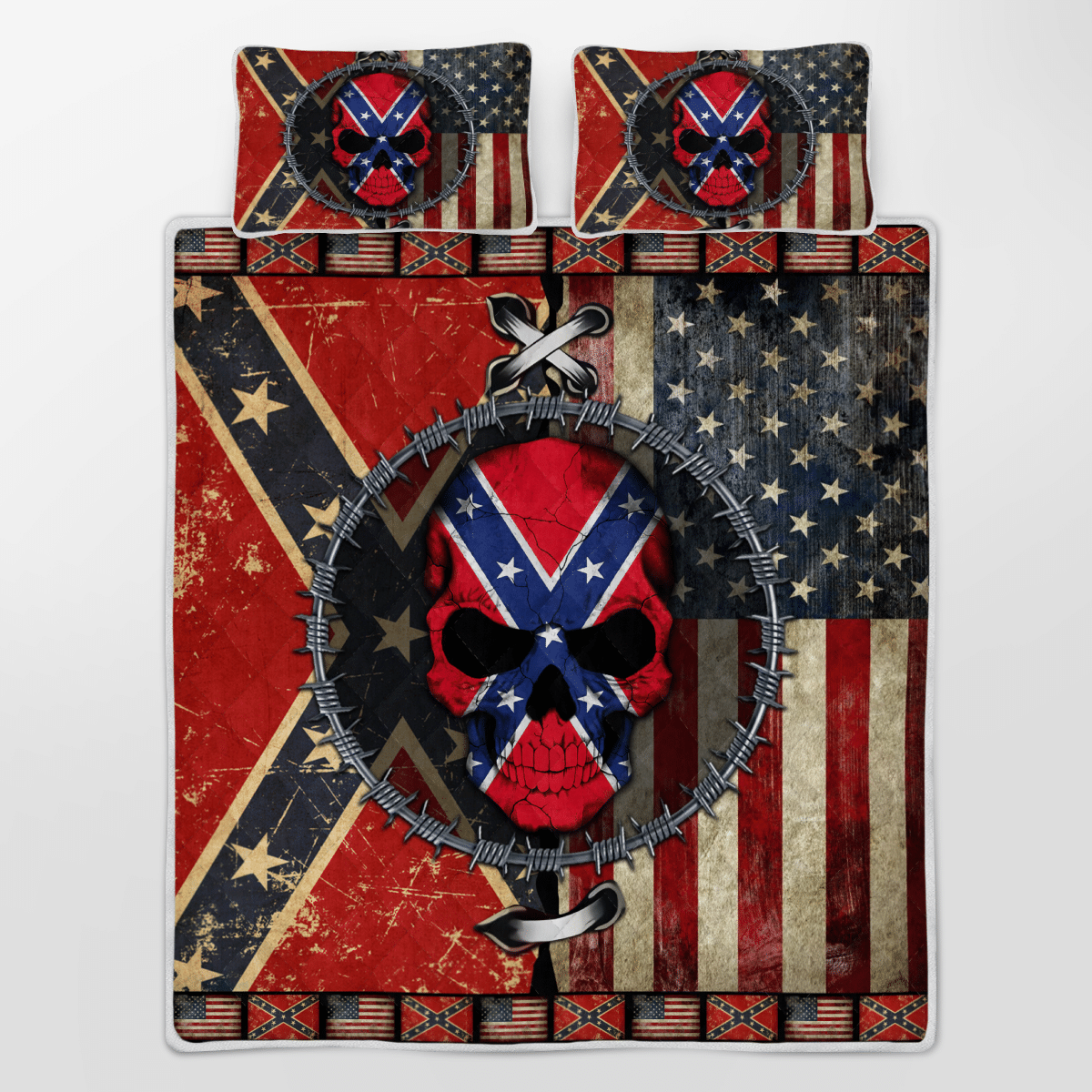 The Southern American Skull Bedding Set