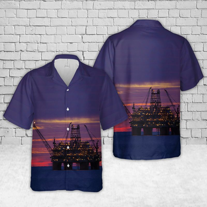 Thunder Horse semisubmersible platform Offshore oil and gas in the US Gulf of Mexico Hawaiian Shirt