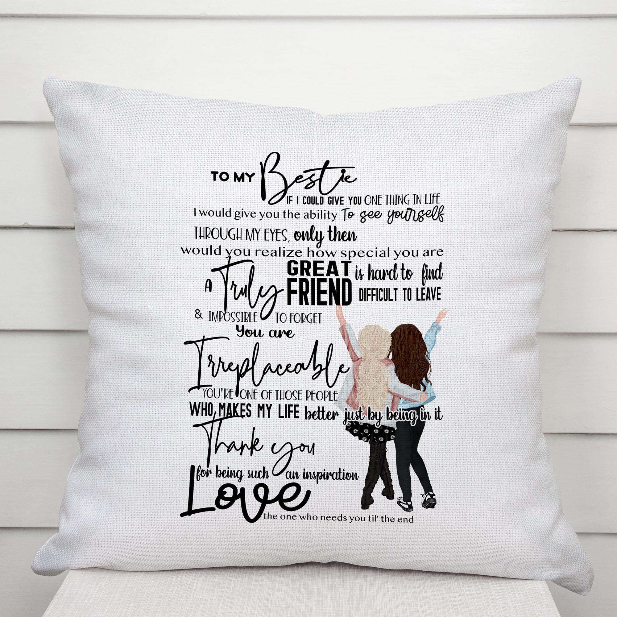 To My Bestie Pillow Case Cushion Cover