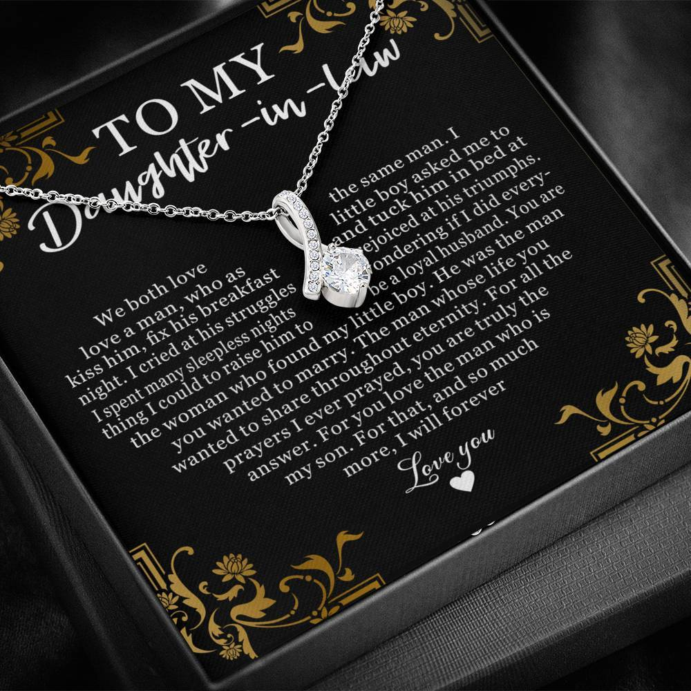 To My Daughter In Law We Both Love The Same Man Alluring Necklace 2