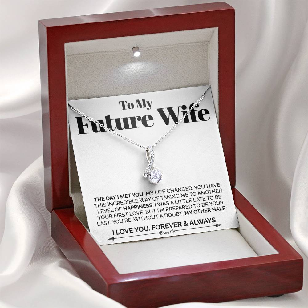 To My Future Wife The Day I Met You Alluring Necklace 4