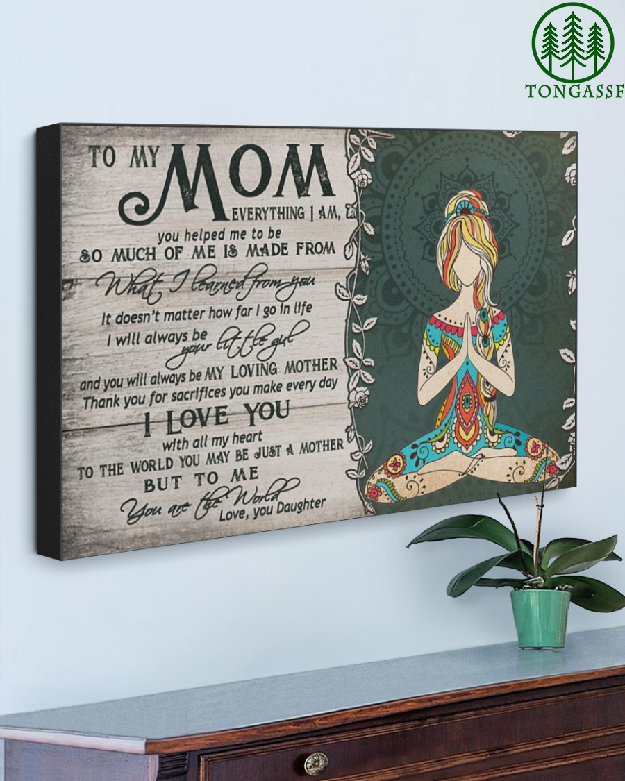 To My Mom Gallery Wrapped Canvas Prints