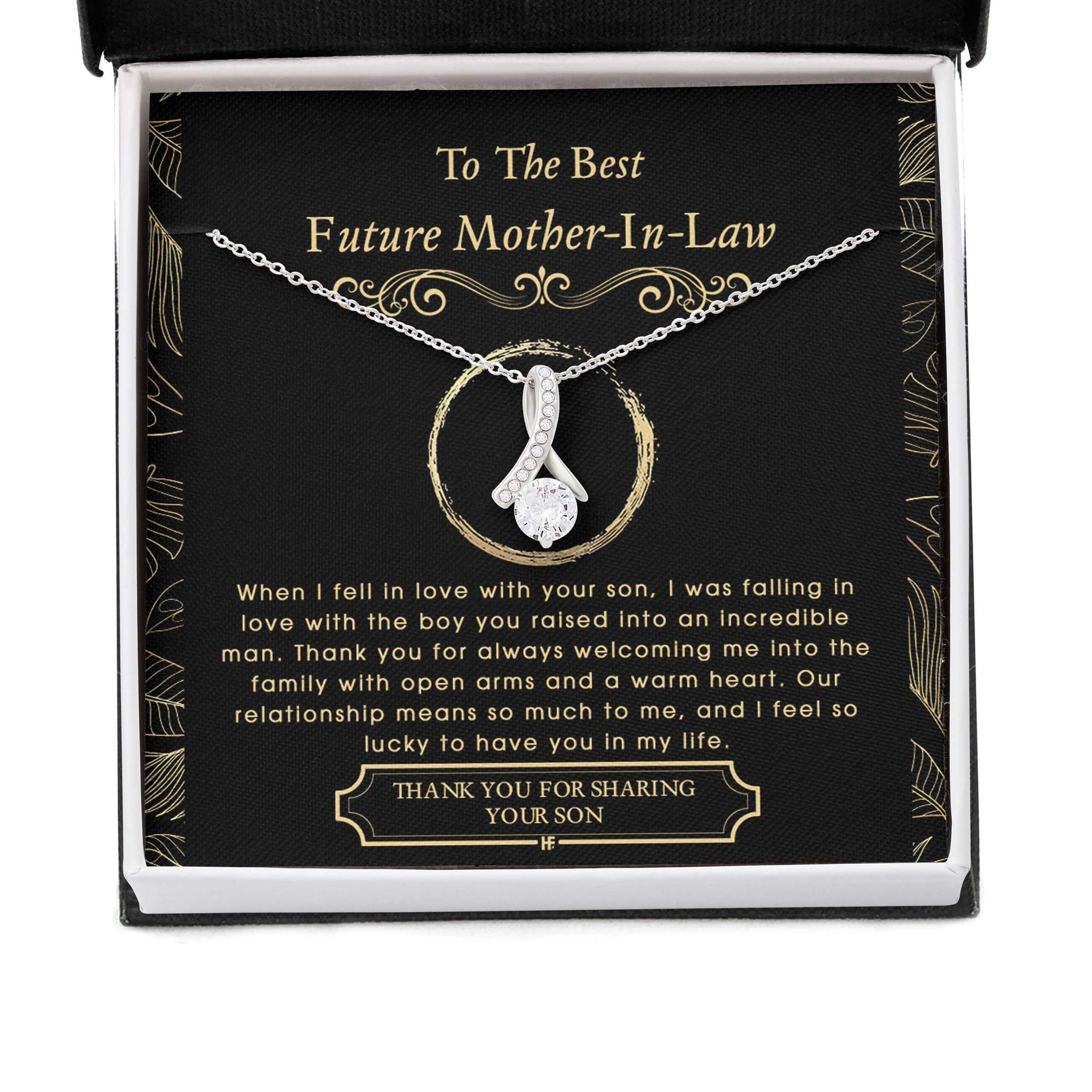 To The Best Future Mother In Law Thank You For Sharing Your Son Alluring Necklace 2