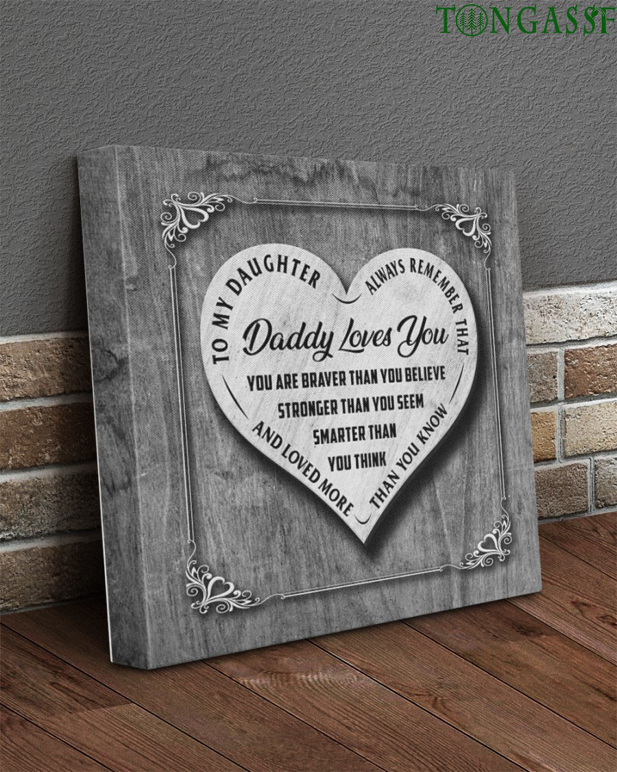 To daughter I love you more than you know silver gallery canvas