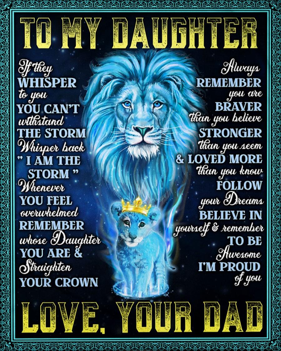 To my daughter Lion King blue fleece blanket