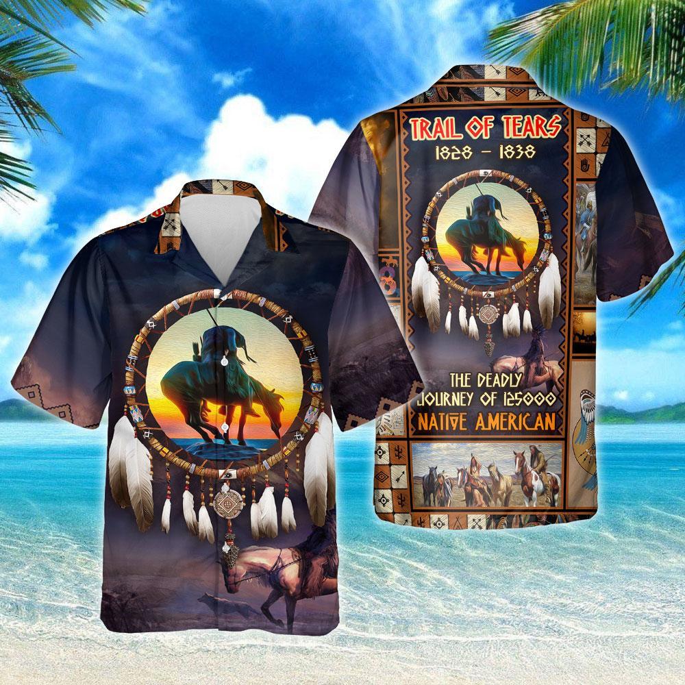 Trail Of Tears 1828 1838 Native American Hawaiian Shirt