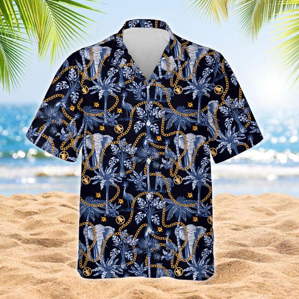 Tropical Trees And Jungle Animals Hawaiian Shirt 2