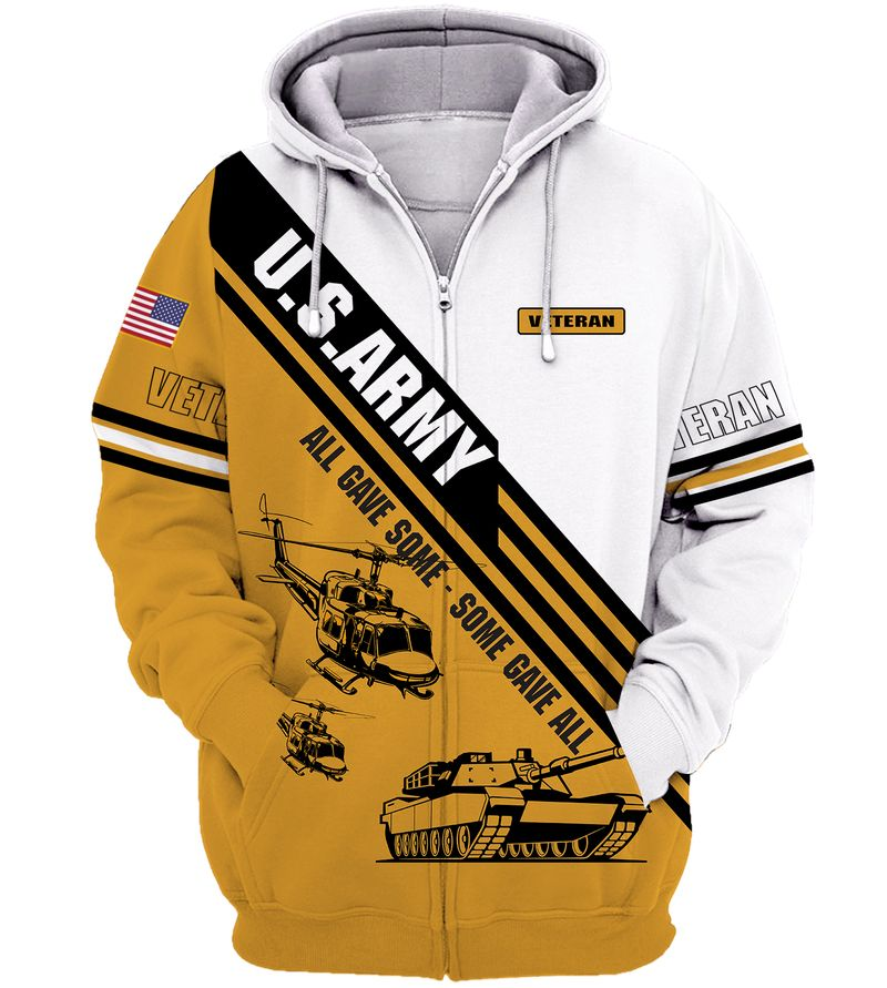 US ARMY Veteran All gave some hoodie 3D