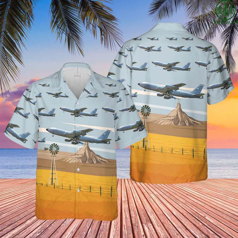 US Air Force Nebraska Air National Guard 155th Air Refueling Wing Boeing KC-135R Stratotanker Hawaiian Shirt