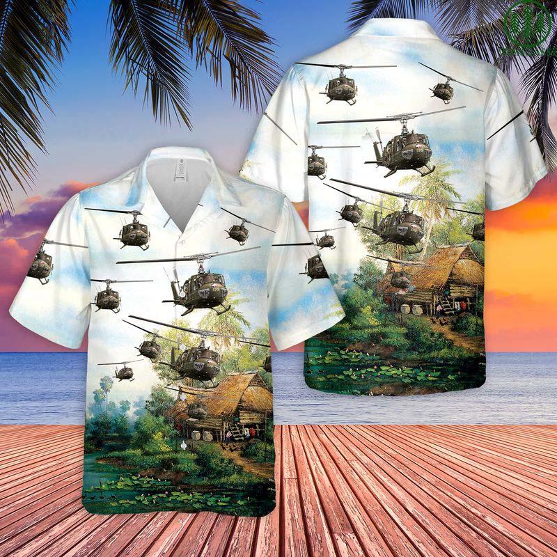 US Army Bell UH-1 Huey Hawaiian Shirt